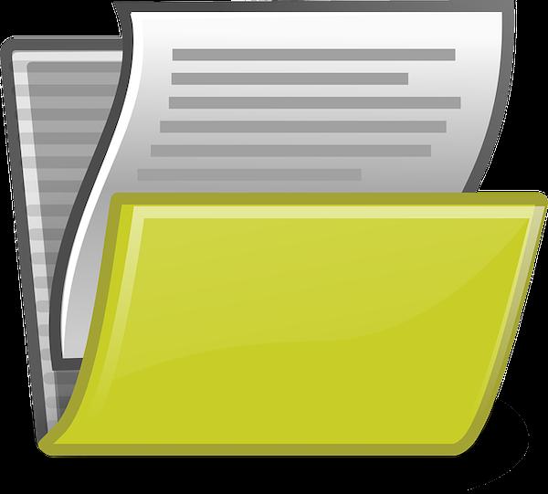 Folder van salarisadministratie